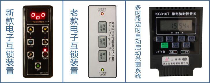 内部采用集成电路,电磁锁,控制面板,指示灯等实现联锁,当其中一扇门
